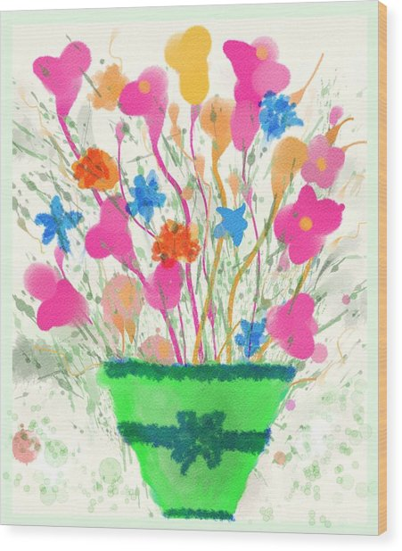 Flowers Of Spring Wood Print
