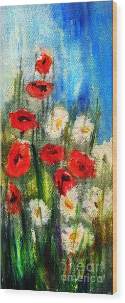 Flowers - Poppy's Flower Wood Print
