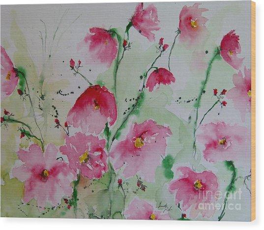 Flowers - Watercolor Painting Wood Print