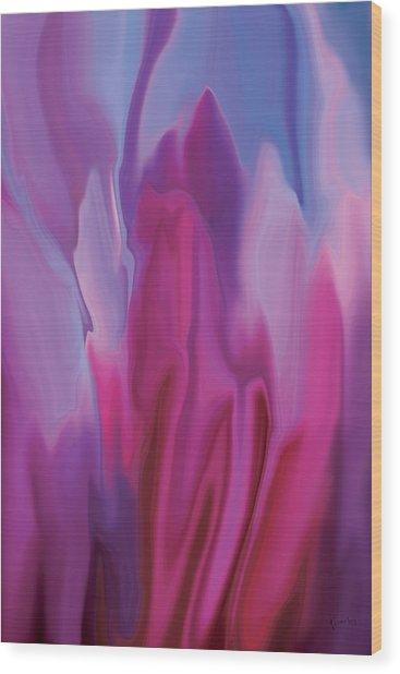 Flowery Wood Print