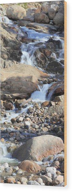 Flowing Downstream Wood Print
