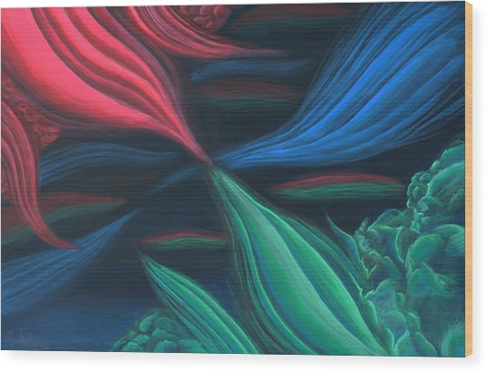 Flowing Harmony Wood Print