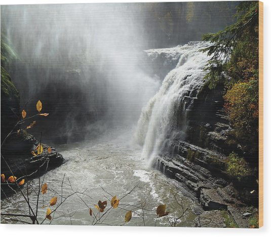 Flowing Tranquility Wood Print by Mike Feraco