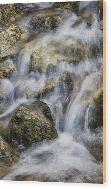 Flowing Waters Wood Print