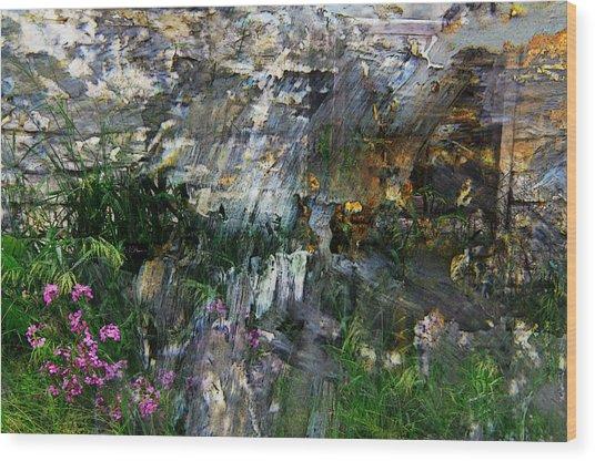 Flox Mosaic Wood Print by Jim Vance