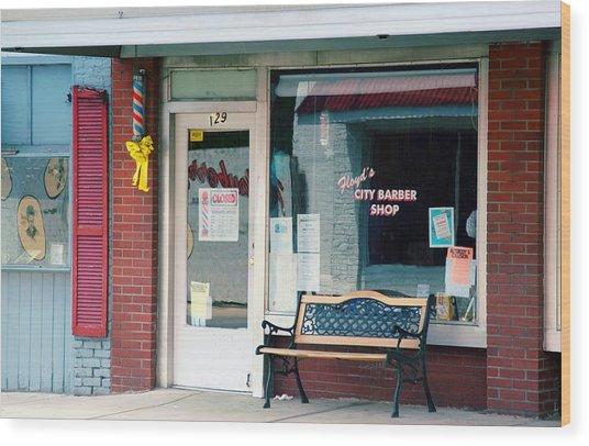 Floyd's Barber Shop Nc Wood Print