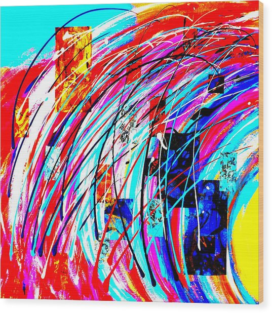 Fluid Motion Pop Art Wood Print