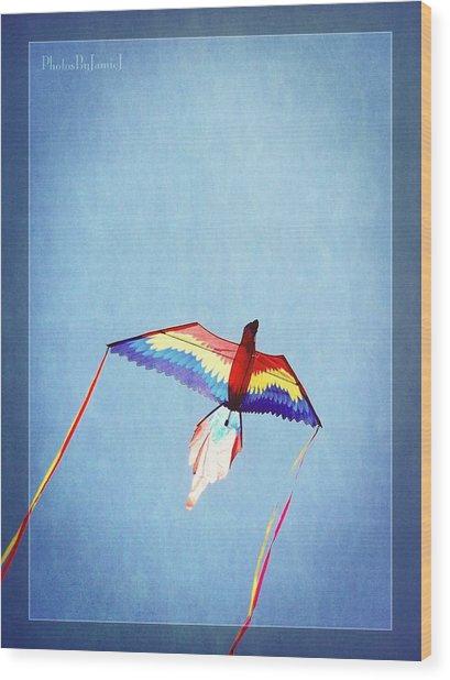 Fly Free Wood Print