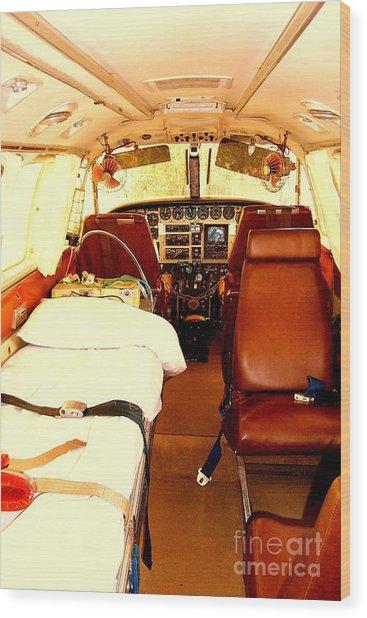 Flying Doctor Plane Wood Print by John Potts