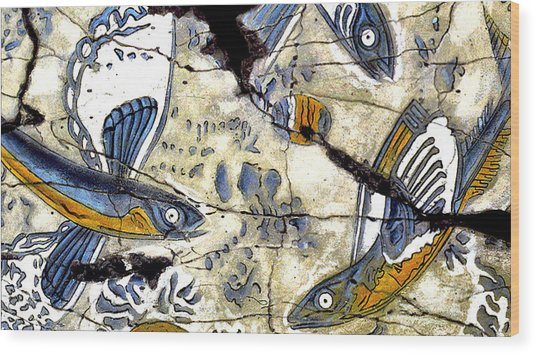 Flying Fish No. 3 - Study No. 2 Wood Print