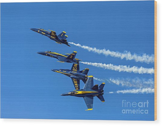Flying Formation Wood Print