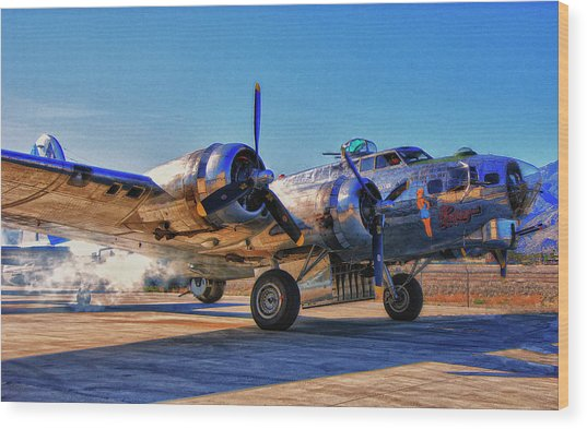 Flying Fortress Sentimental Journey Wood Print