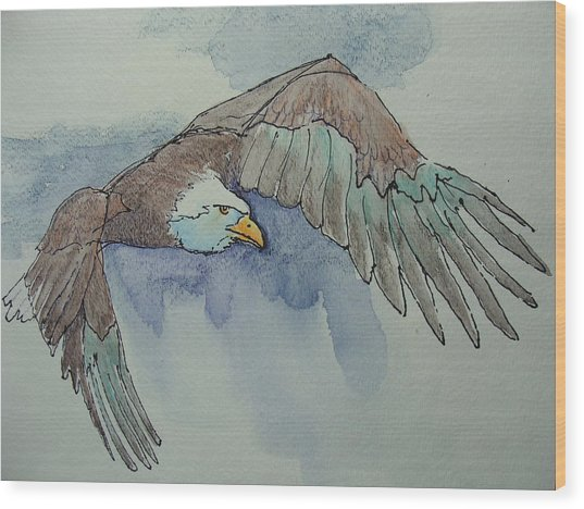 Flying Free Wood Print by Judy Fischer Walton