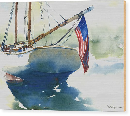 Flying Her Colors Wood Print