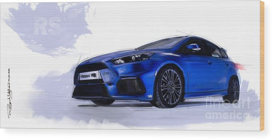 Focus Rs Wood Print
