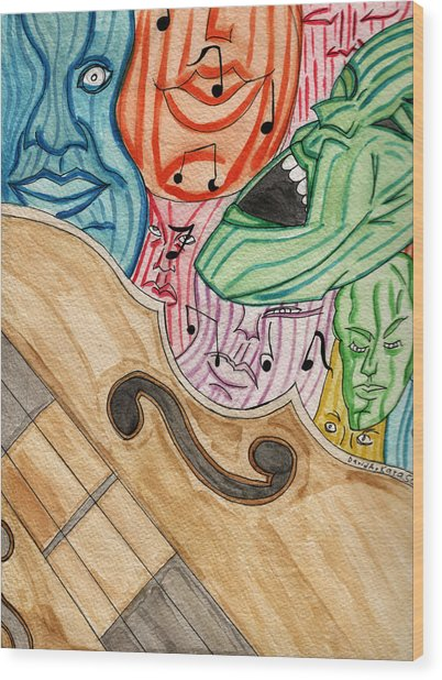 Fofm Wood Print by Artists With Autism Inc