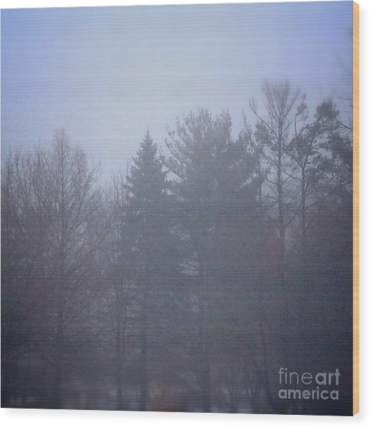 Fog And Mist Wood Print