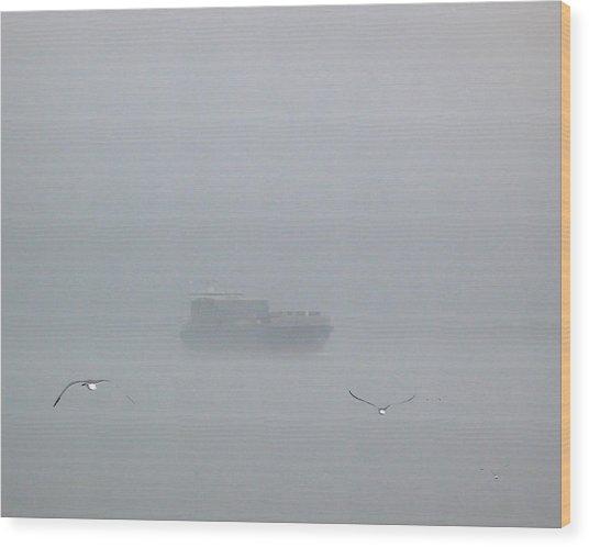 Fog Bound Wood Print