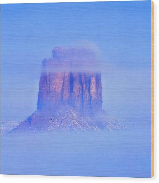 Fog Cover  Wood Print