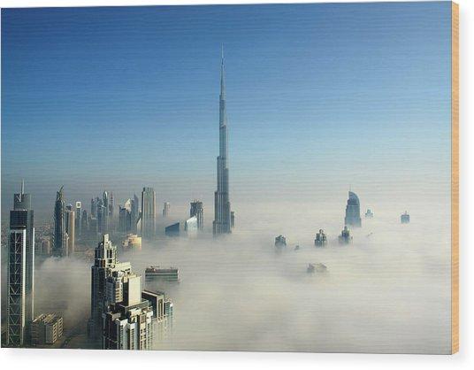 Fog In Dubai Wood Print by © Naufal Mq
