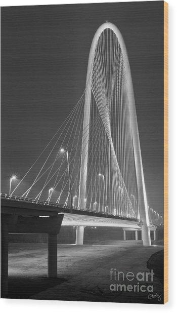 Fog Lights And Lines Iv Wood Print