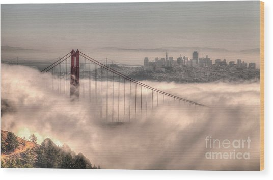 Fog Roll Wood Print
