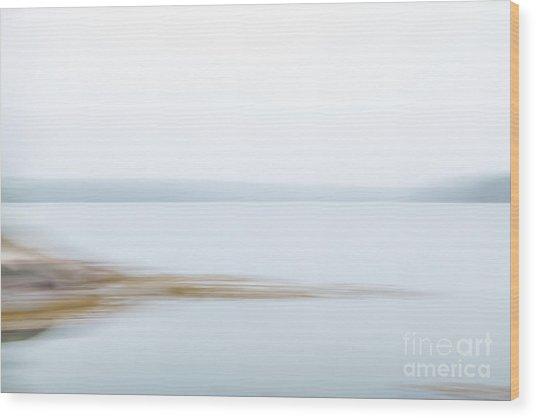 Foggy Bay 1 Wood Print