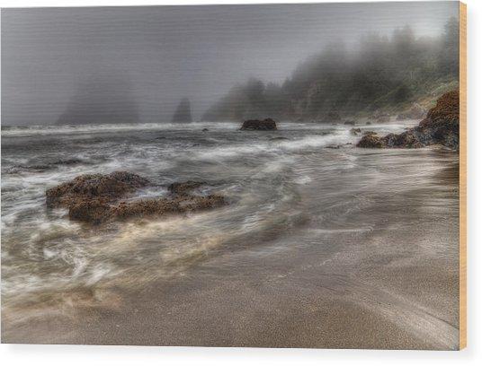 Foggy Day At Trinidad Wood Print