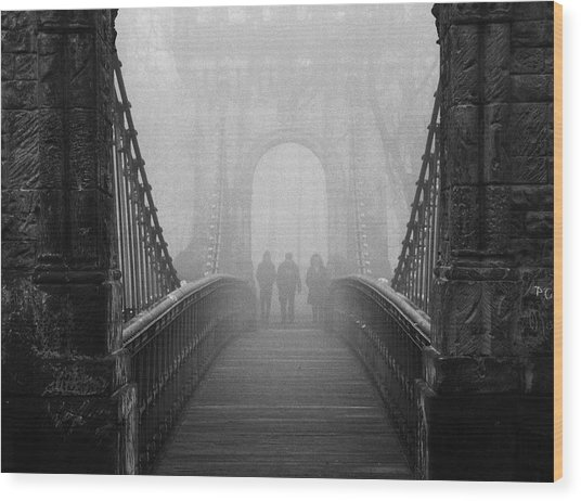 Foggy Day(they) Wood Print by Catalin Alexandru