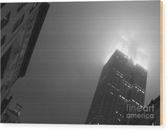 Foggy Empire Wood Print