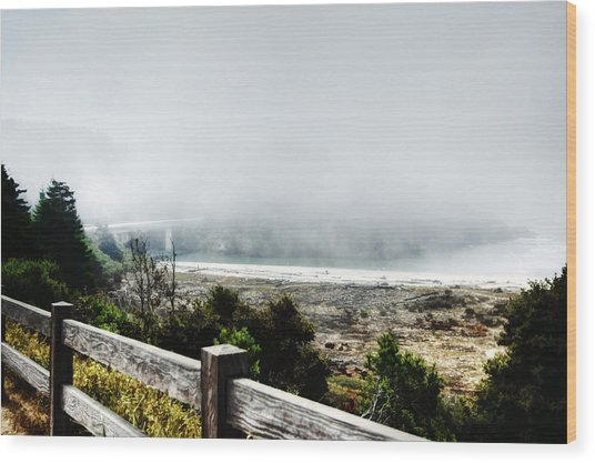 Foggy Mendocino Morning Wood Print