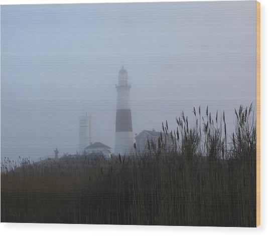 Foggy Montauk Lighthouse Wood Print
