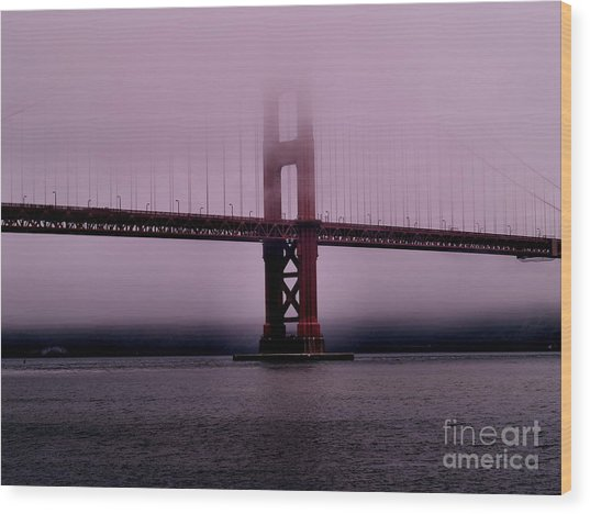 Foggy Morning Symphony Wood Print