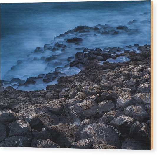 Foggy Seascape Wood Print by Craig Brown