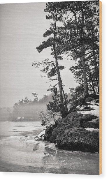 Foggy Winnisquam Wood Print