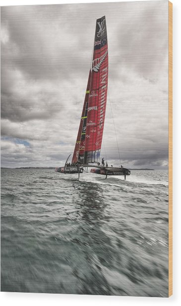 Foiling 2 Wood Print by Chris Cameron