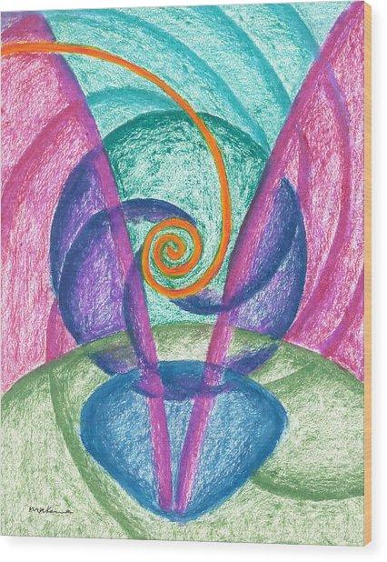 Fold Upon Fold Mandala Wood Print