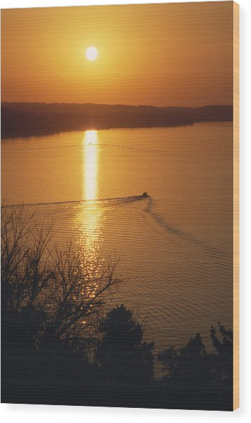 Follow Me Home - Lake Geneva Wisconsin Wood Print