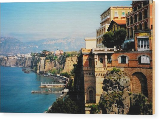 Follow My Heart To Sorrento Wood Print