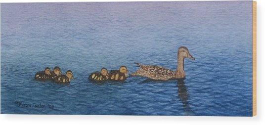 Follow The Leader II Wood Print by Sharon Farber
