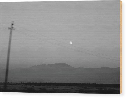 Follow The Moon Wood Print