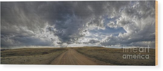 Follow The Road Wood Print