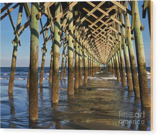 Folly Beach Pier Wood Print