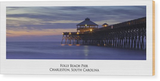 Folly Beach Pier Charleston Sc Wood Print