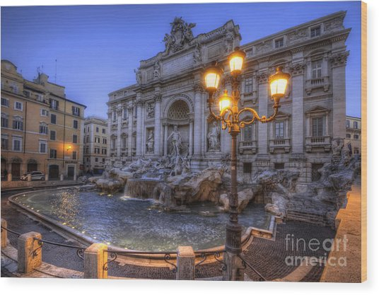Fontana Di Trevi 3.0 Wood Print