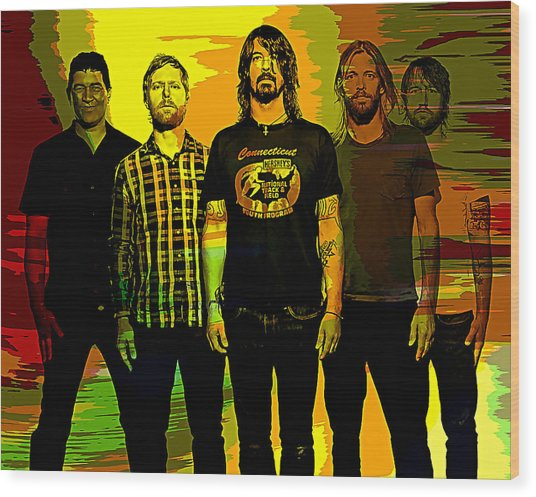 Foo Fighters Wood Print