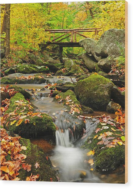 Macedonia Brook Crossing  Wood Print