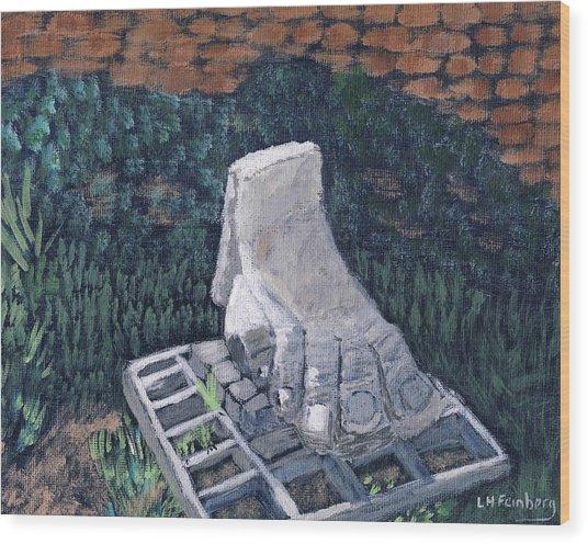 Foot Statue-caesaria Wood Print