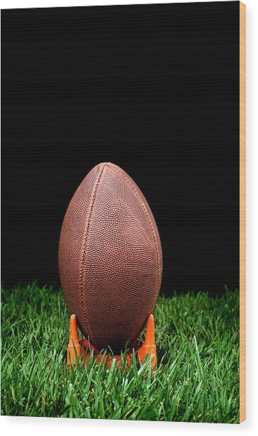 Football Kickoff Wood Print