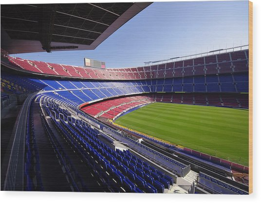 Football Stadium Wood Print by Ioan Panaite